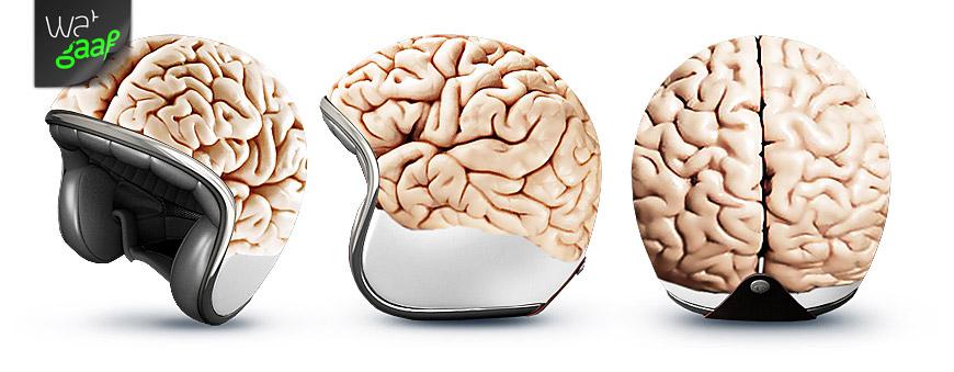 Een 'see-throught' helm