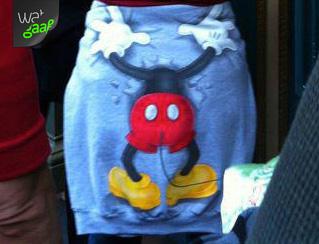 Mickey Mouse zoekt maar kan het niet vinden