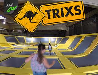 Trixs Trampoline springen…Erg gaaf!