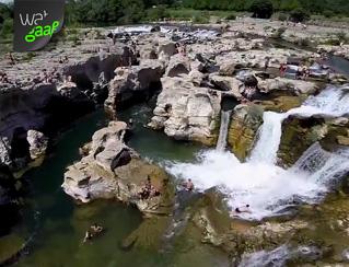 Gaaf om eens te zwemmen: Cascades du sautadet